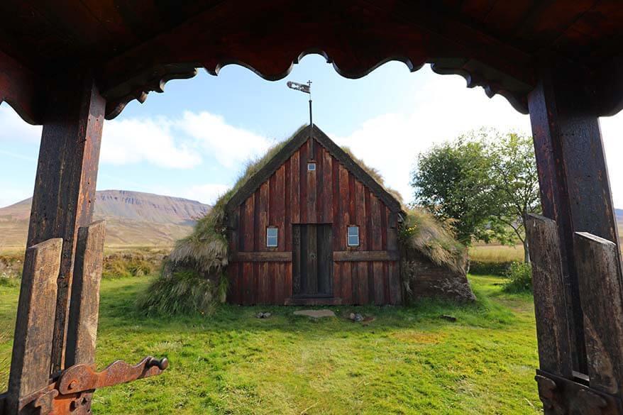 Grafarkirkja turf church in Iceland
