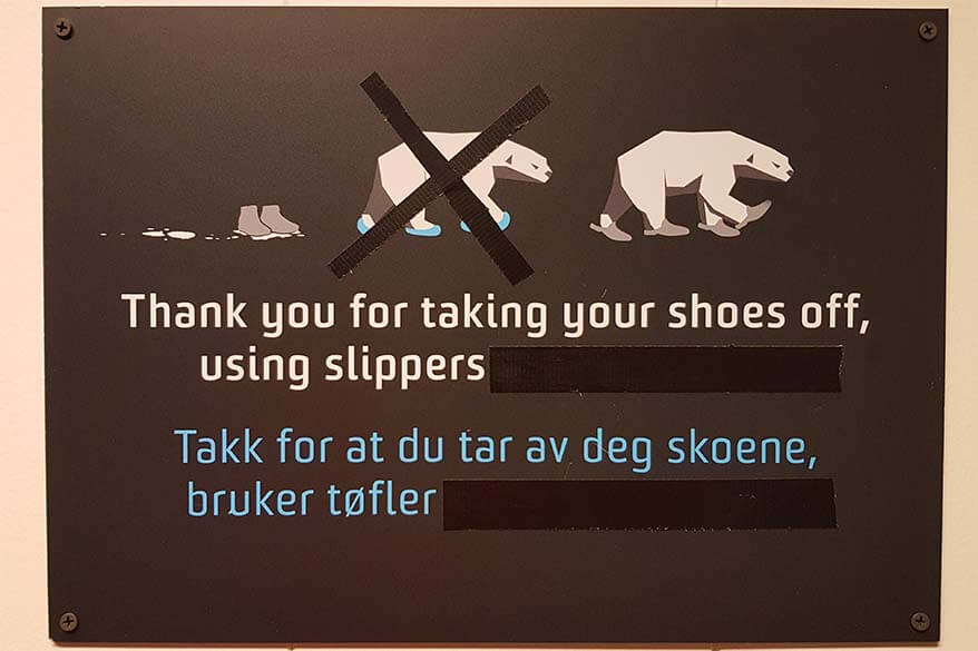 No shoes sign in Svalbard