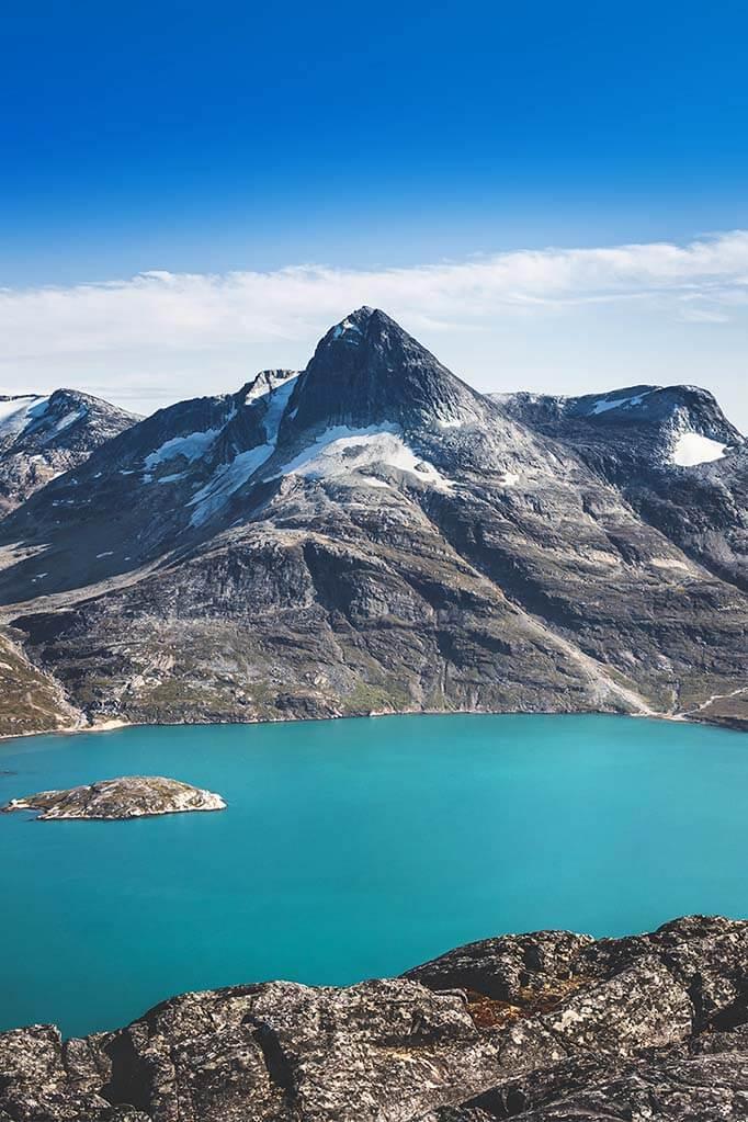 Nuup Kangerlua fjord in southwestern Greenland