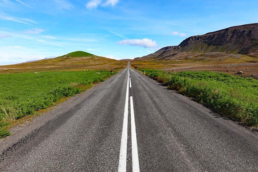 Road 76 - one of the most beautiful roads in Iceland