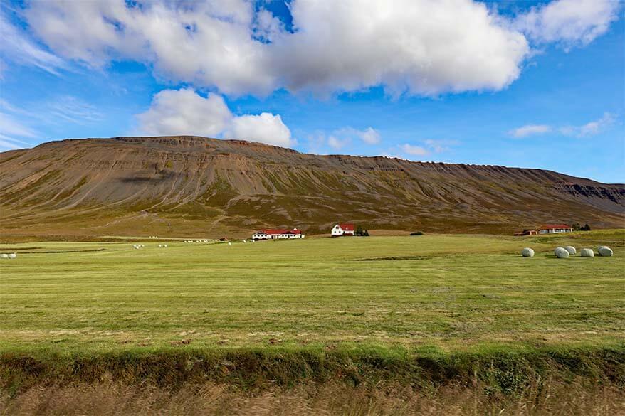 Scenic Trollaskagi Peninsula in Iceland