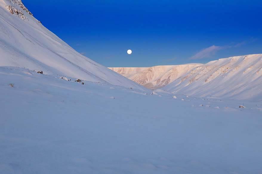Spitsbergen in winter