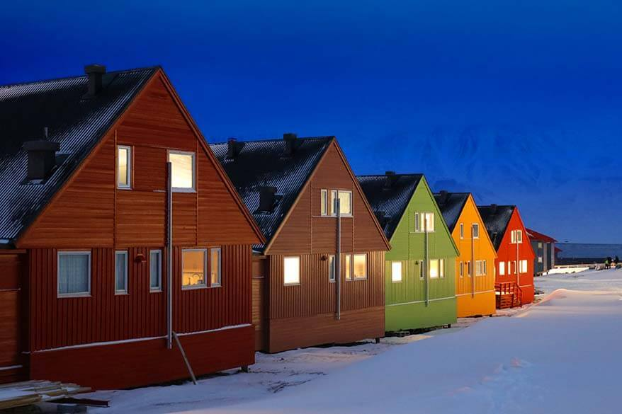 Svalbard in winter