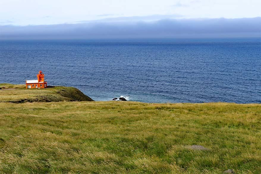 Trollaskagi Lighthouse near Siglufjordur