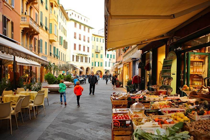 All Saints Day in Italy - almost all shops and all restaurants were open in Santa Margherita Ligure