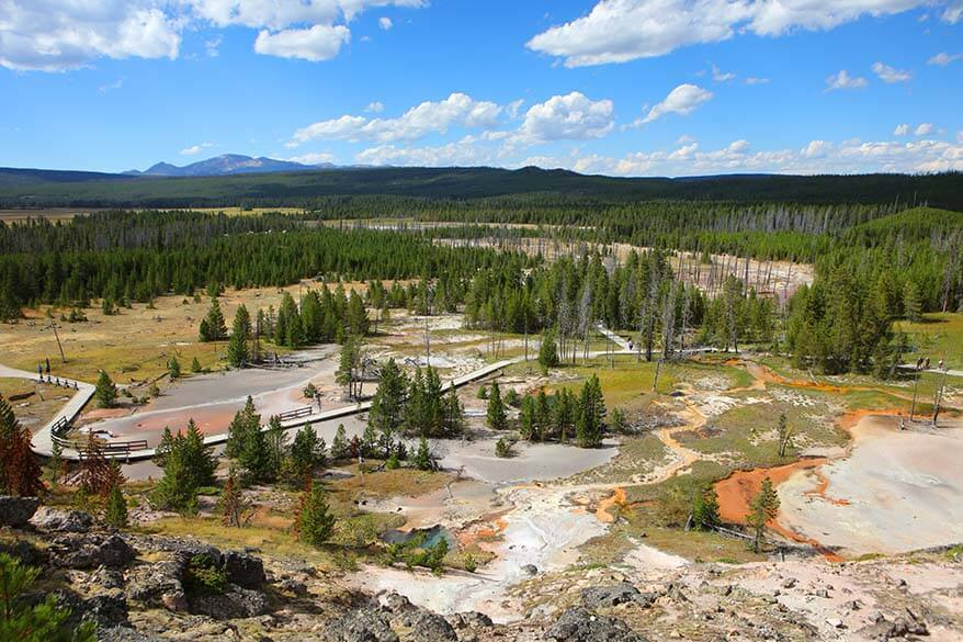 Artists Paintpots - one of the lesser visited places in Yellowstone