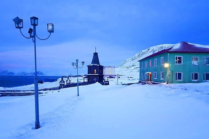 Barentsburg church in winter