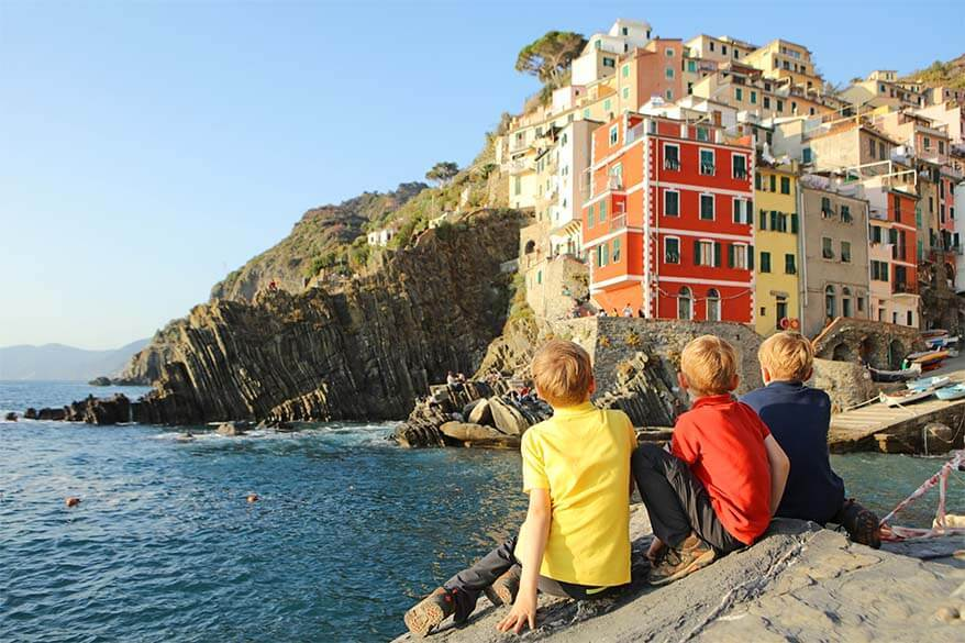 Beautiful fall weather in Cinque Terre at the end of October - beginning of November