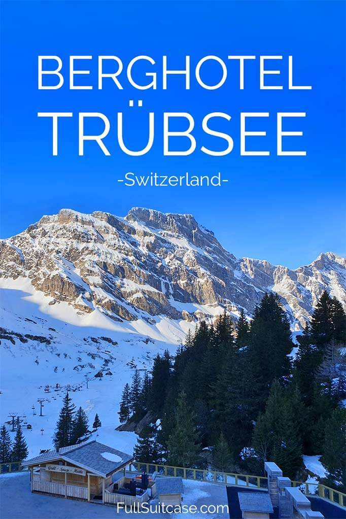 Berghotel Trübsee review - winter vacation in Engelberg, Switzerland