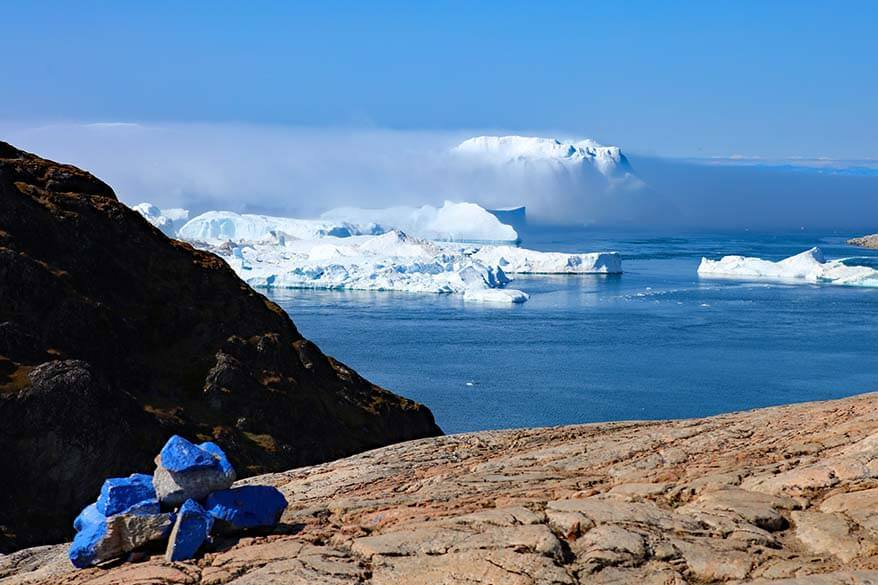 Blue Route hiking trail at Kangia Ilulissat Icefjord