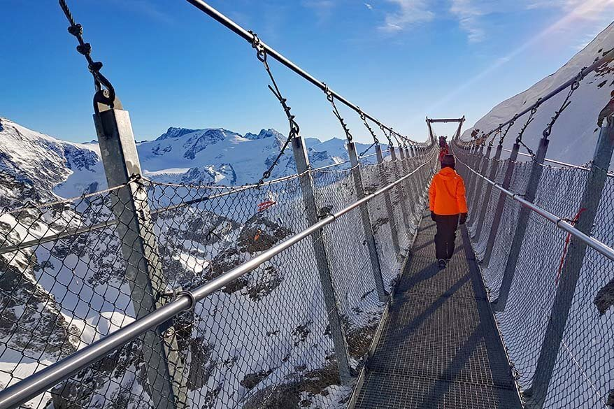 Cliff Walk is included in Mt Titlis ticket price
