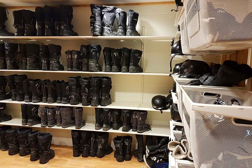 Clothing and equipment are provided for all Svalbard snowmobile tours