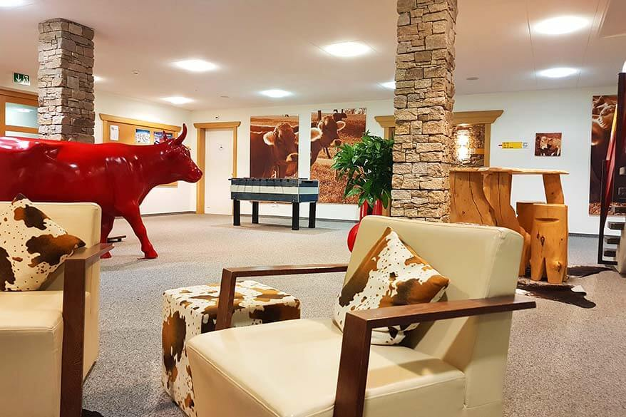 Common areas of Trubsee Alpine Lodge in Engelberg