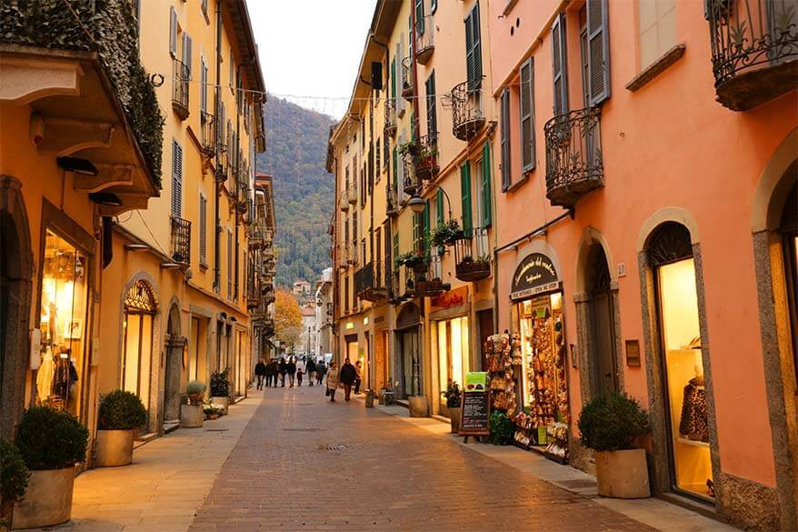 Como in Italy in the low season