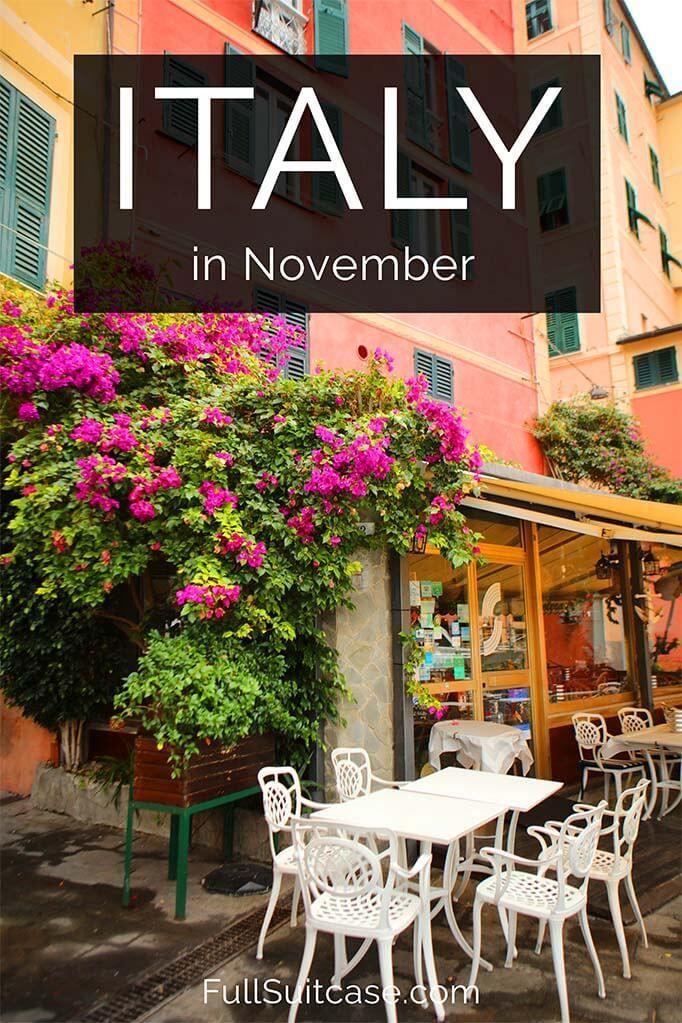 Complete guide to visiting Italy in November