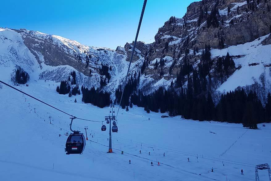Gerschnialp ski area for beginners in Engelberg