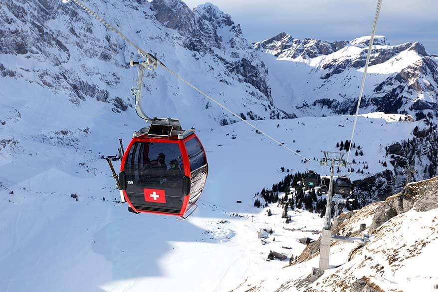 Gondola from Engelberg to Mount Titlis