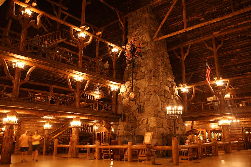 Inside the Old Faithful Inn