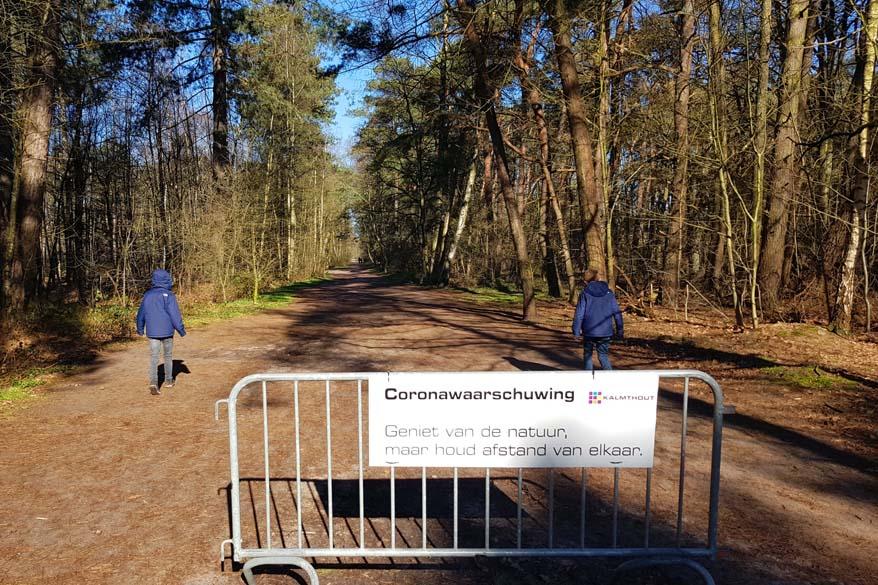 Kalmthoutse Heide in Belgium - corona warning - enjoy nature but keep distance