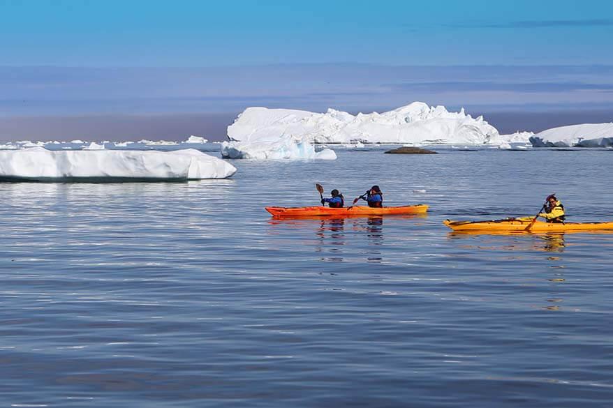 Kayaking in Ilulissat