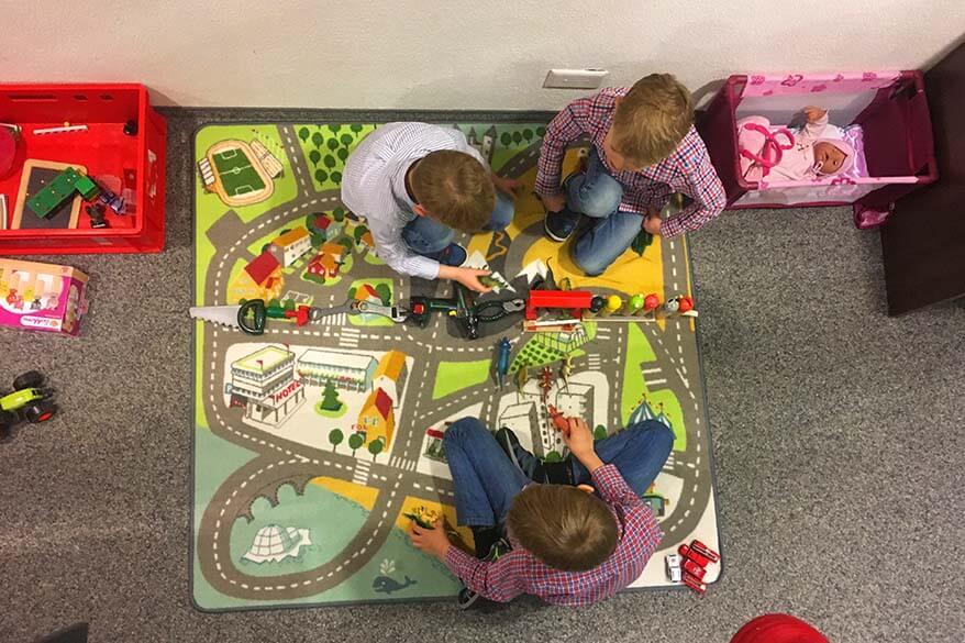 Kids playroom at Berghotel Truebsee