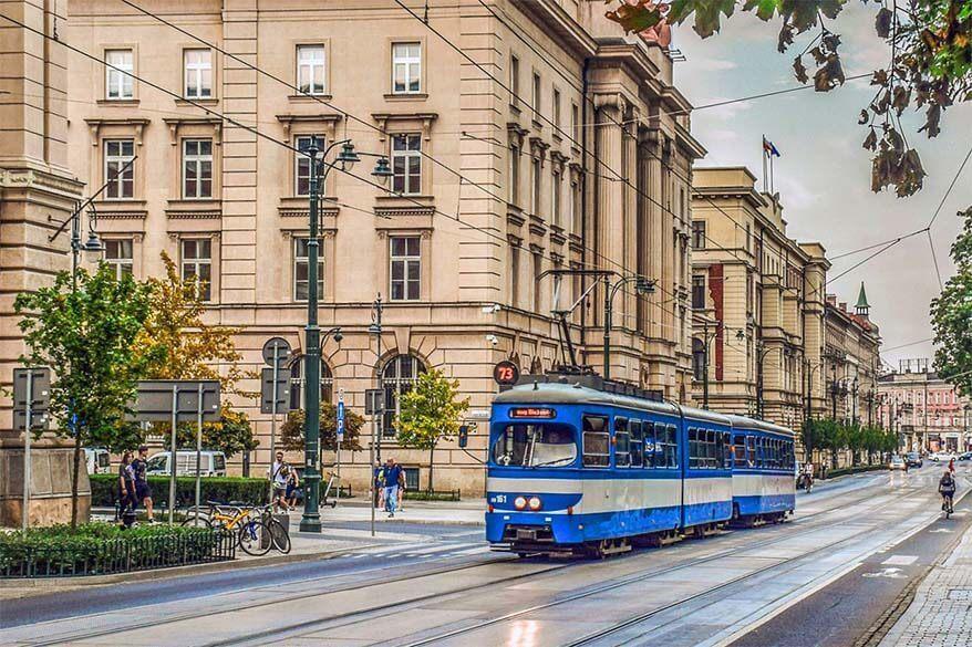 Krakow travel tips - use public transportation