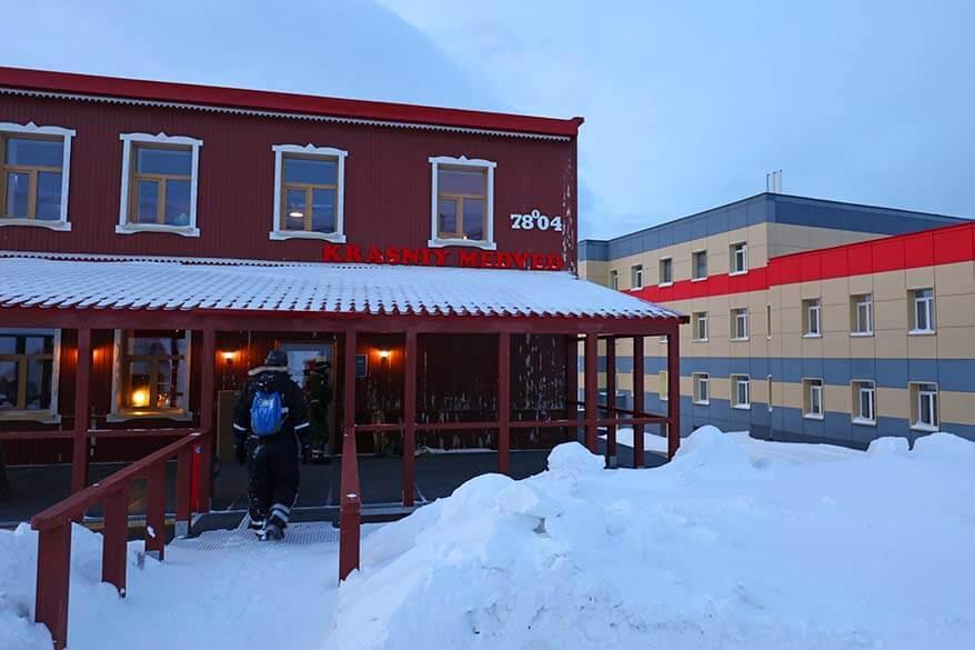 Krasniy Medved restaurant in Barentsburg, Spitsbergen, Svalbard