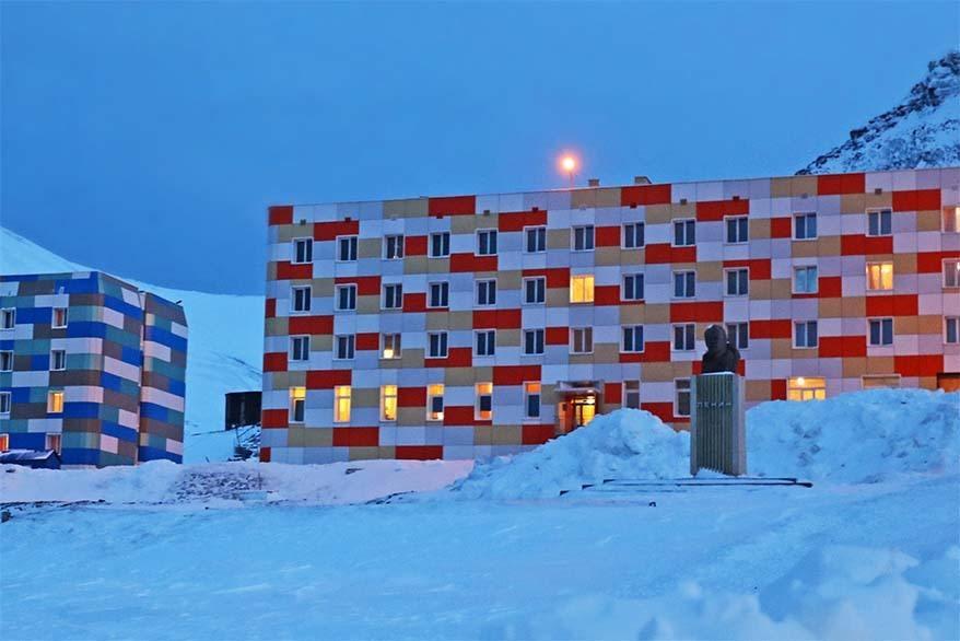 Lenin Statue in Barentsburg