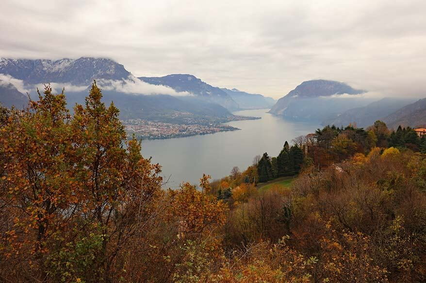 November weather in Italy - Lake Como on a grey day end of November