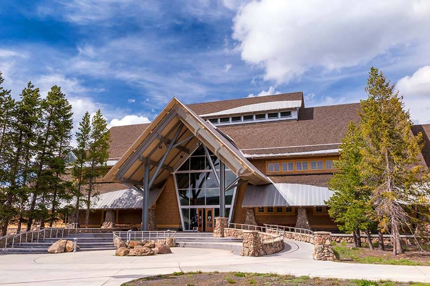 Old Faithful Visitor and Education Center in Yellowstone