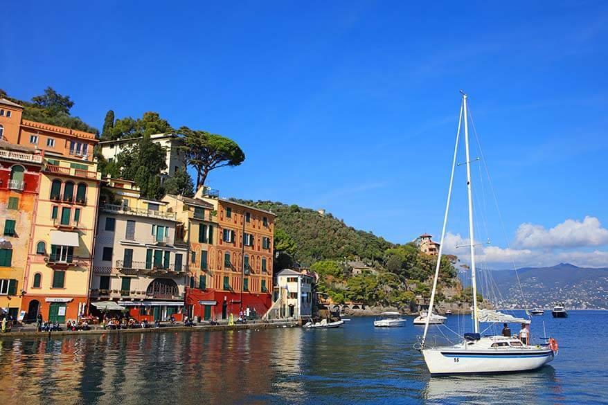 Portofino in Italy in November