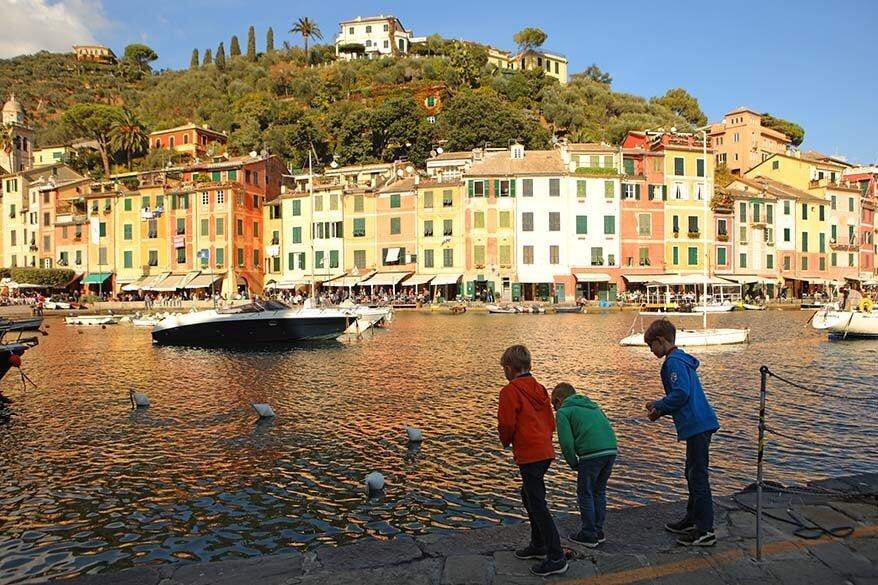 Portofino in Italy with kids