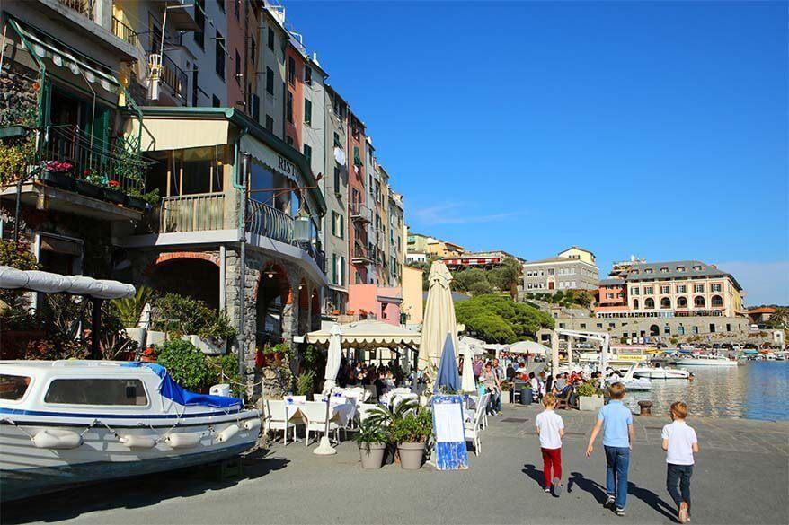 Portovenere in Italy at the beginning of November