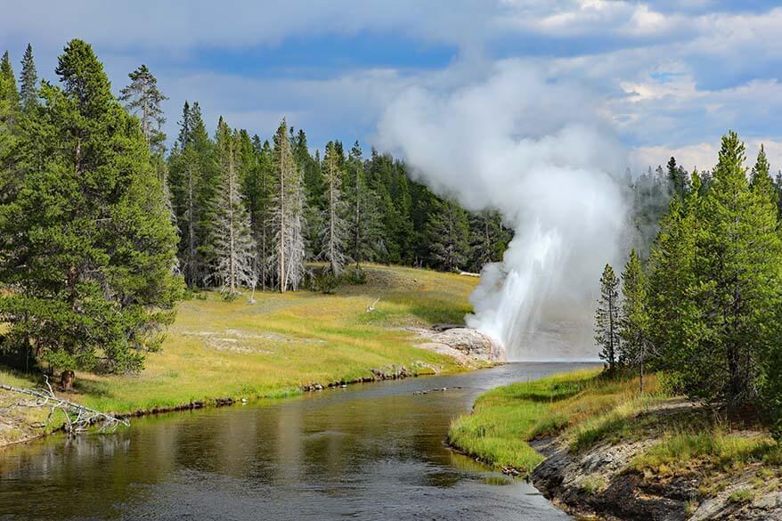 Riverside Geyser in Yellowstone