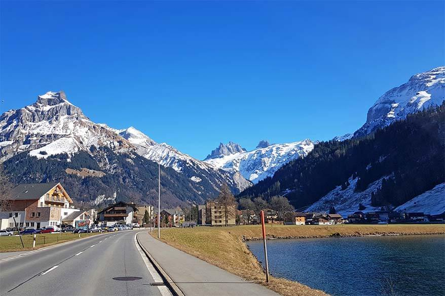 Road from Lucerne to Engelberg