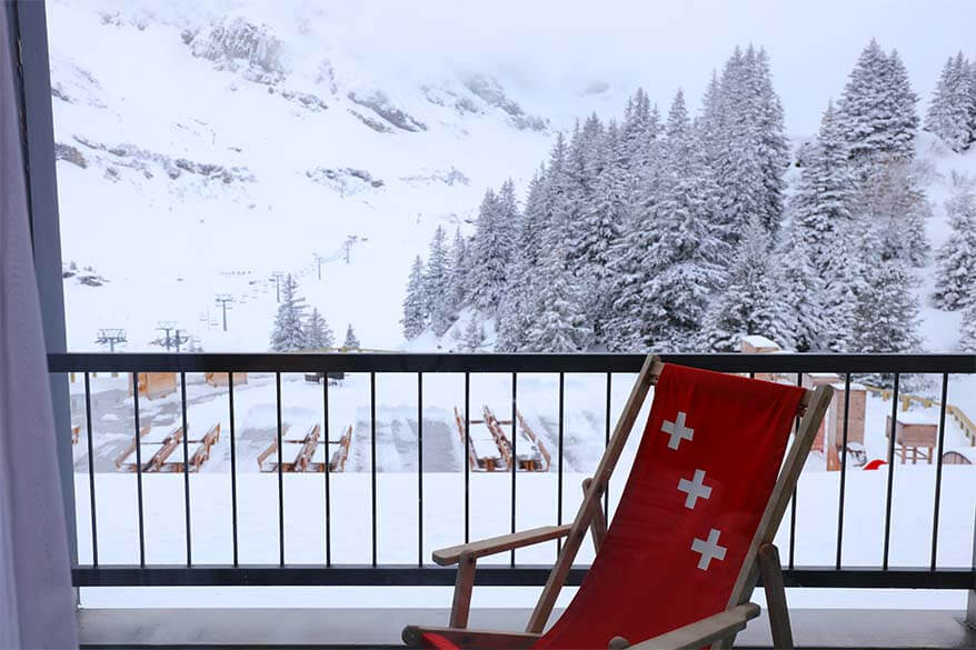 Room with a view at the Alpine Lodge Trubsee