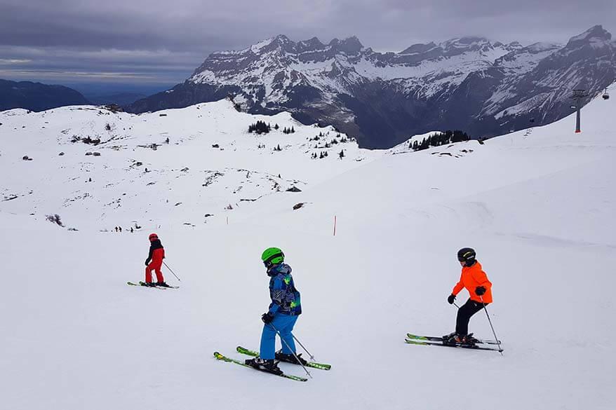 Skiing in Engelberg with kids