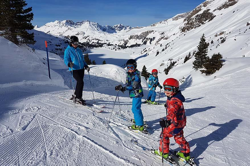 Skiing in Engelberg with young children