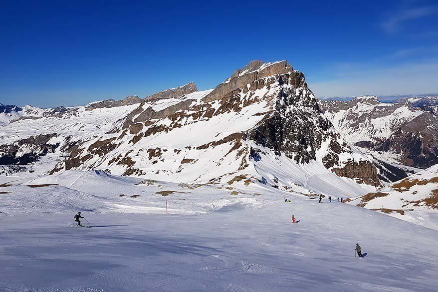 Skiing in Engelberg