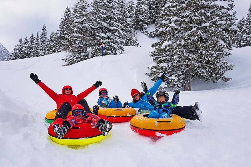 Snow tubing at Trubsee Switzerland