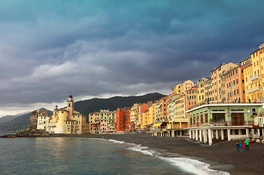 Stormy weather in Camogli Italy in November