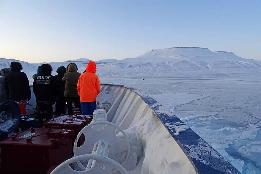 Svalbard boat trip