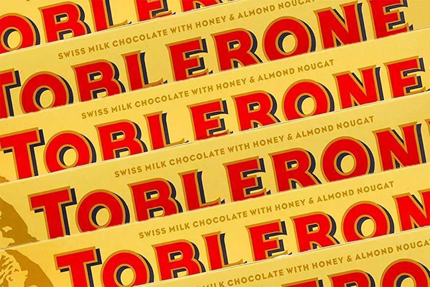 Swiss Toblerone chocolate