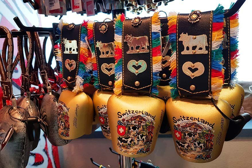 Swiss souvenirs for sale at Mt Titlis