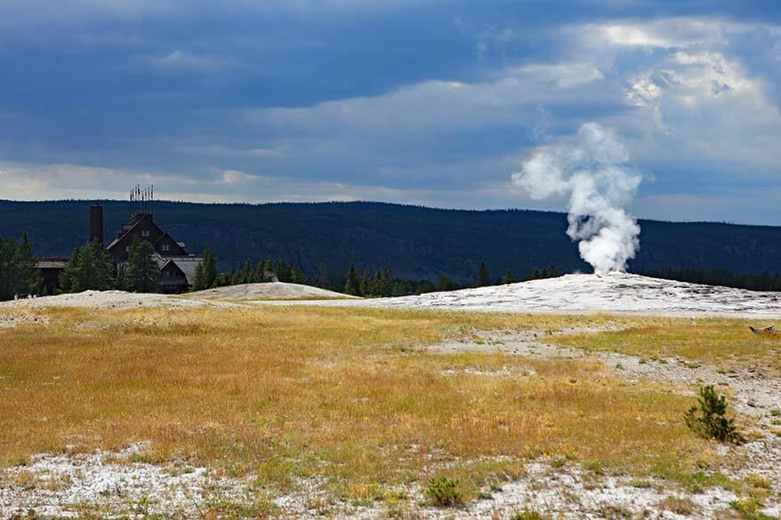 The Old Faithful area