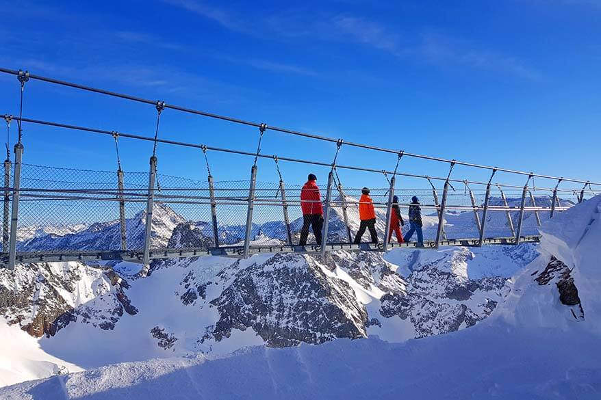 Titlis Cliff Walk - Europe's highest suspension bridge