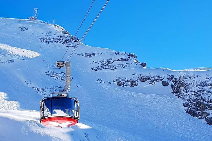 Titlis Rotair - revolving cable car to the top of Mount Titlis in Switzerland