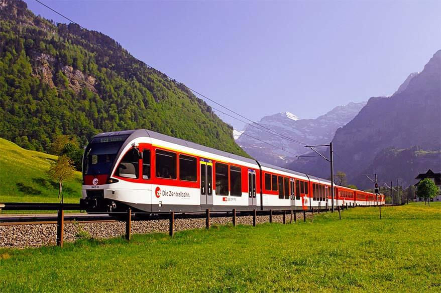 Train from Lucerne to Engelberg