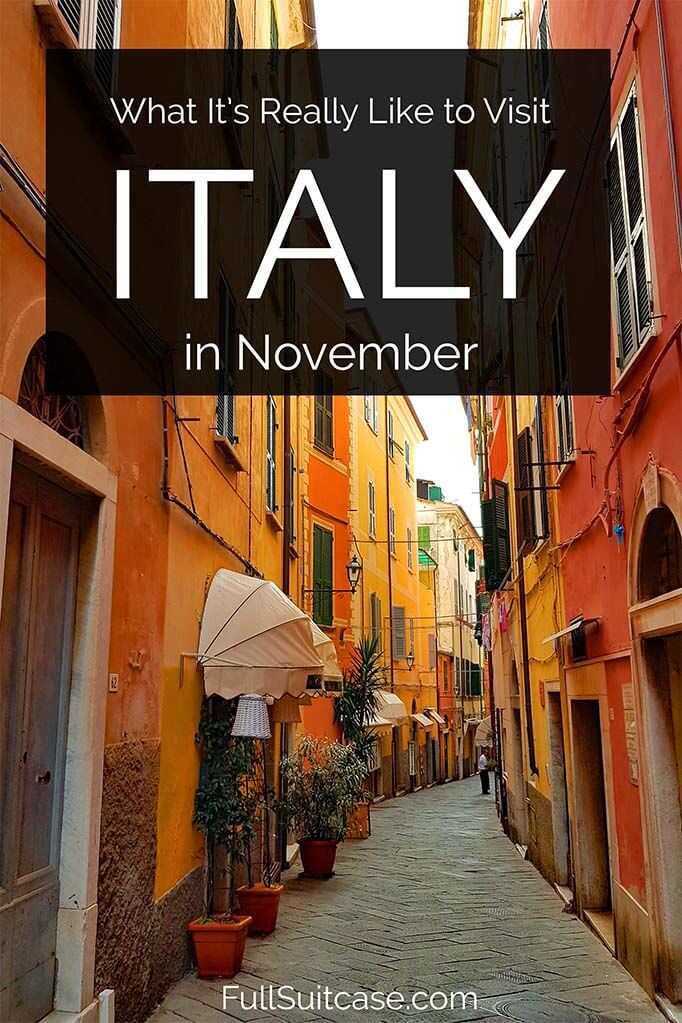 Traveling to Italy in November - weather, crowds, where to go, and tips for your visit