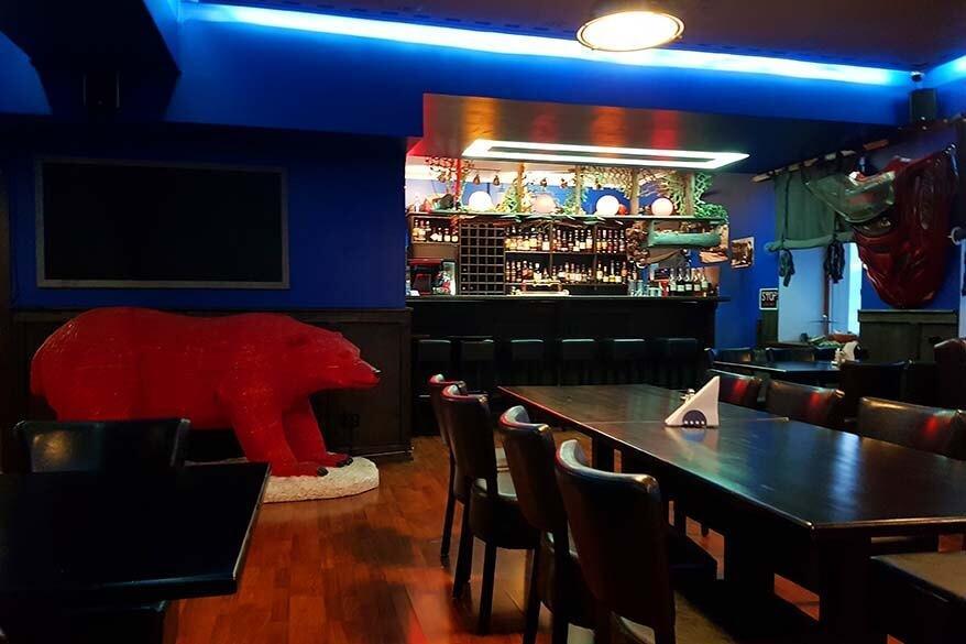 krasnyi medved Red Bear restaurant in Barentsburg